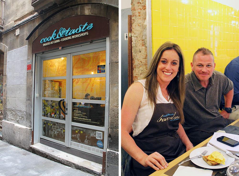 COOK & TASTE: Kokkekurs og middag hos Cook & Taste er både gøy, godt og lærerikt. Cheryl Harrington fra Massachusetts, USA, er på kokkekurs sammen med kollegaer. «I love it!» Foto: Tenk Koffert