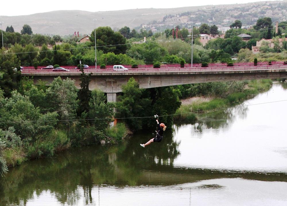 MAI: Så reiste jeg til Toledo, der fløy jeg over elven Tajo med zipline! Vakre Toledo kan du lese mer om  her  og  her.  Foto: Inge Lundereng