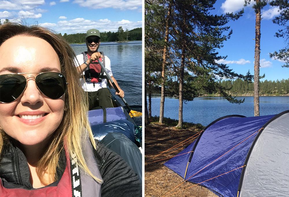 JUNI: Happy campers! Mer om  campingturen vi tok i juni kan du lese her.  Foto: Tenk Koffert
