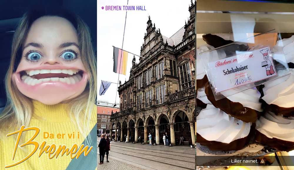 AUGUST: Bremen i Tyskland var en av byene vi stoppet innom på turen, en vakker by jeg gjerne vil besøke igjen. Foto: Tenk Koffert