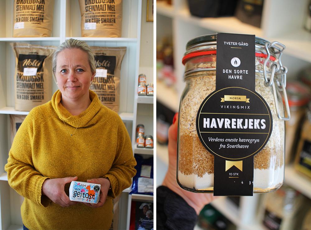 DALEN HANDELSLAG: Vibeke tilbyr mange flotte produkter fra små aktører. Foto: Tenk Koffert