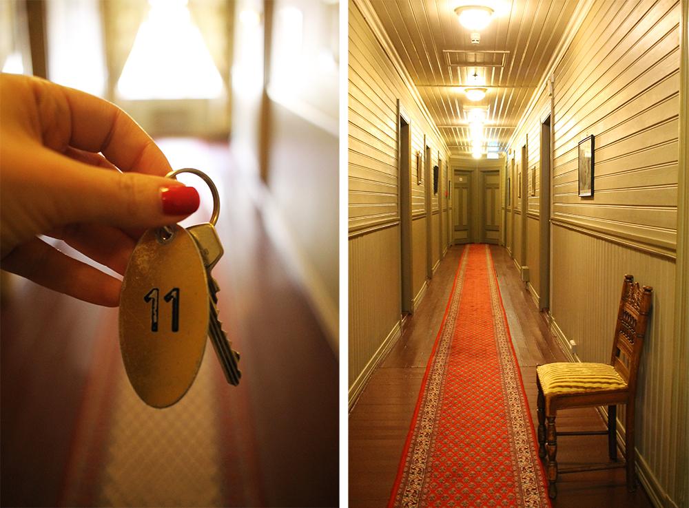 SPØKELSESHOTELLET: Det spøker på Dalen Hotel, og det på rommet rett bortenfor mitt! Foto: Tenk Koffert