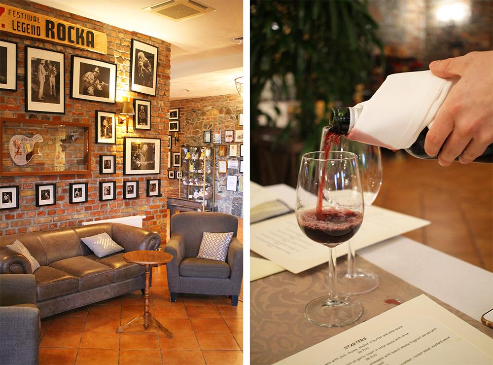 HOTELLETS RESTAURANT: Jeg koste meg med flereretters lunsj og god vin da jeg besøkte Dolina Charlotty. Foto: Hedda Bjerén