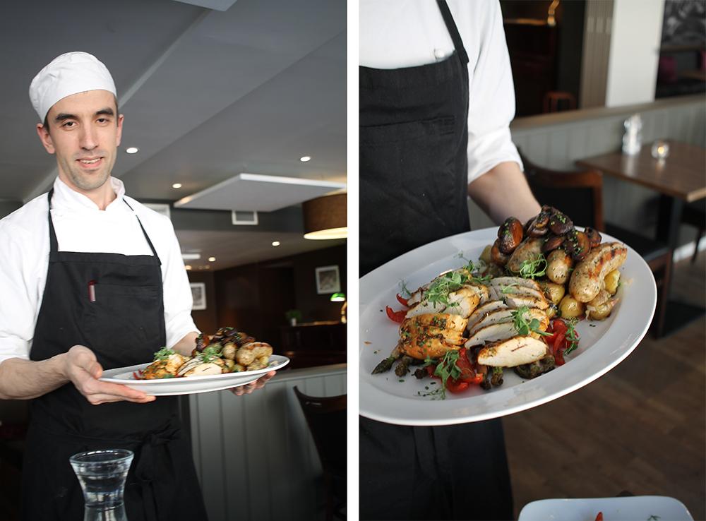 RESTAURANT BACKLUND: Deilig middag og hyggelig service hos restaurant Backlund. Foto: Tenk Koffert