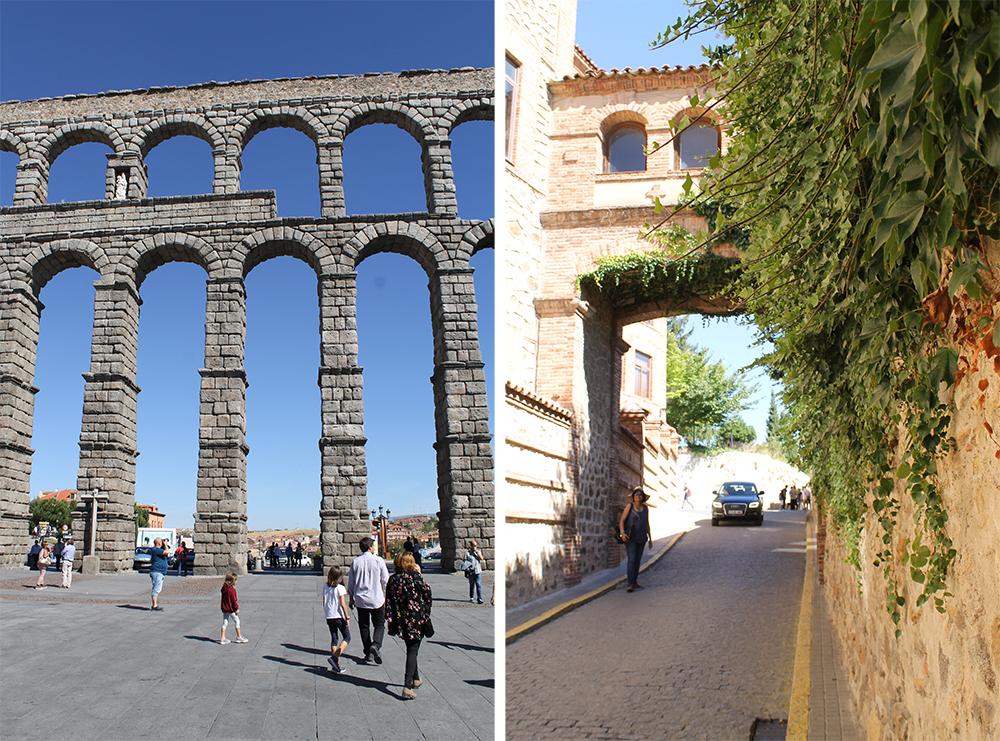 SEGOVIA: Den store Akvedukten er det mest kjente landemerket i Segovia. Byen ellers har fine, små gater og smug, og er en herlig by å rusle rundt i. Foto: Tenk Koffert