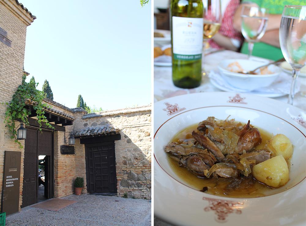 RESTAURANTTIPS I TOLEDO: Hacienda del Cardenal er et superkoselig restaurant. Der har jeg blant annet spist perlehøne - kjempegodt! Foto: Tenk Koffert