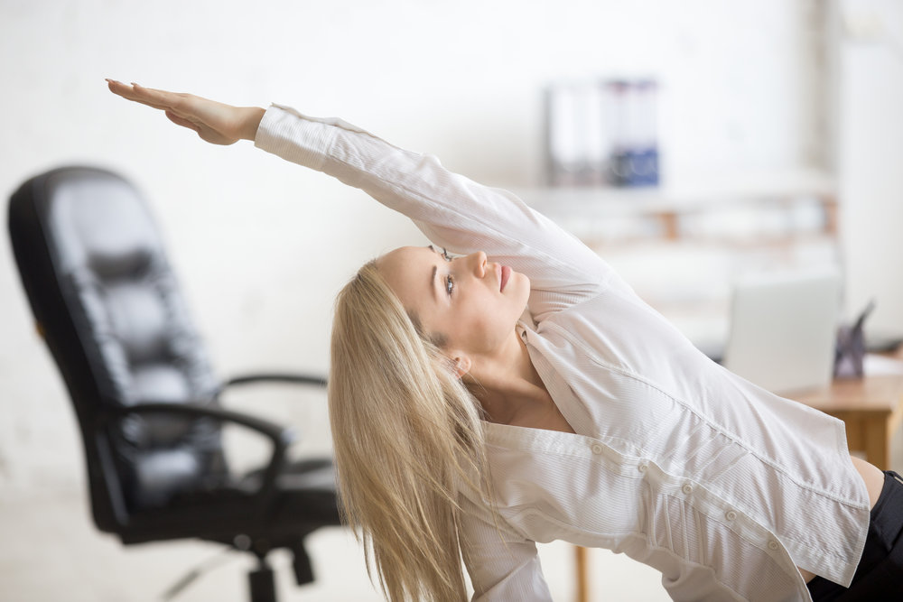 Conference Table Yoga - No Yoga clothes? No problem. Enjoy the benefits of yoga without stressing the other stuff. In 30-minutes or less, get a good stretch and take a short break from workplace routine. Perfect for conference rooms or open spaces.