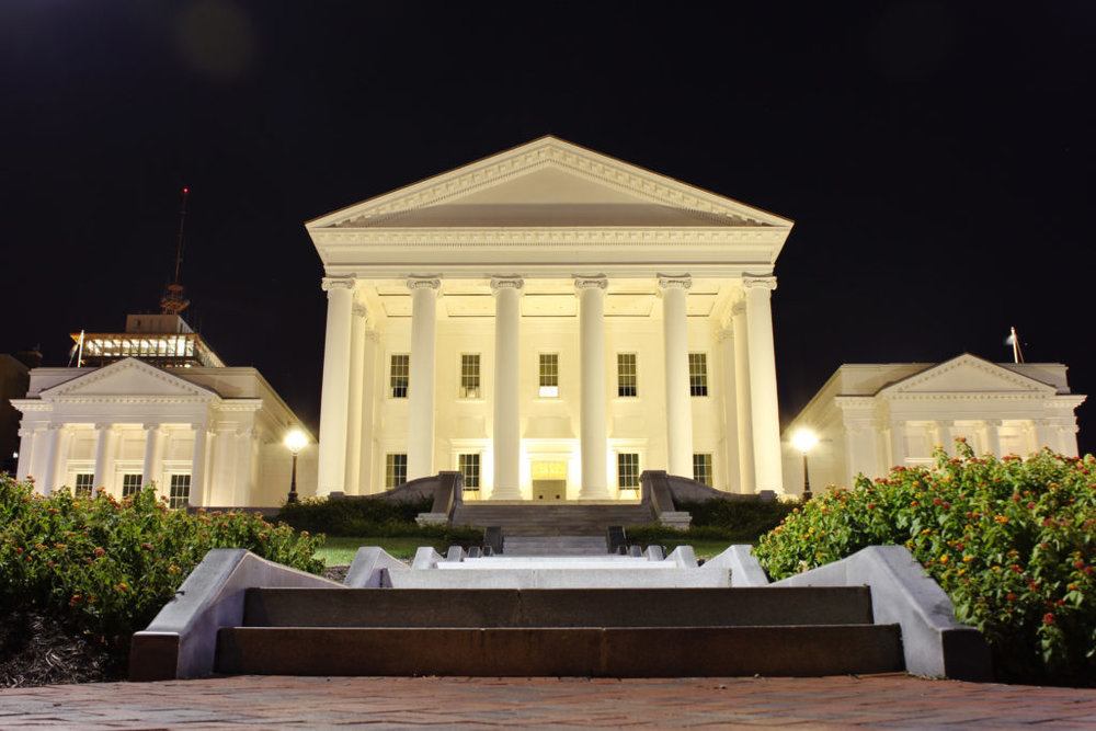 The Virginia State Capitol appears in Richmond, Virginia. Photo by Flickr user Will Fisher