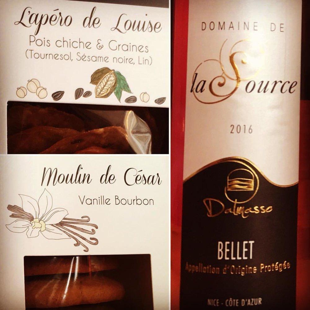 Un Bellet rosé du Domaine de la Source, voilà une merveilleuse idée pour vos apéritifs de l'été .... pour l'accompagner les délices en direct de Vallauris, encore une découverte de Jean de la Tomate