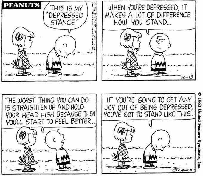 Peanuts - Depressed Stance