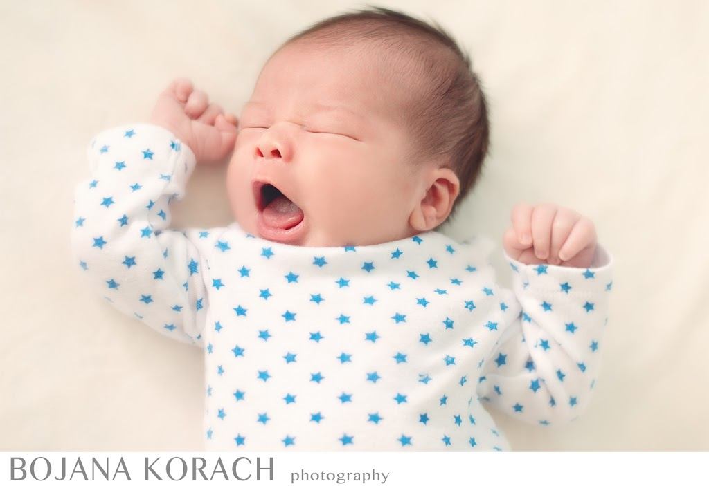 newborn baby yawning in san francisco photography