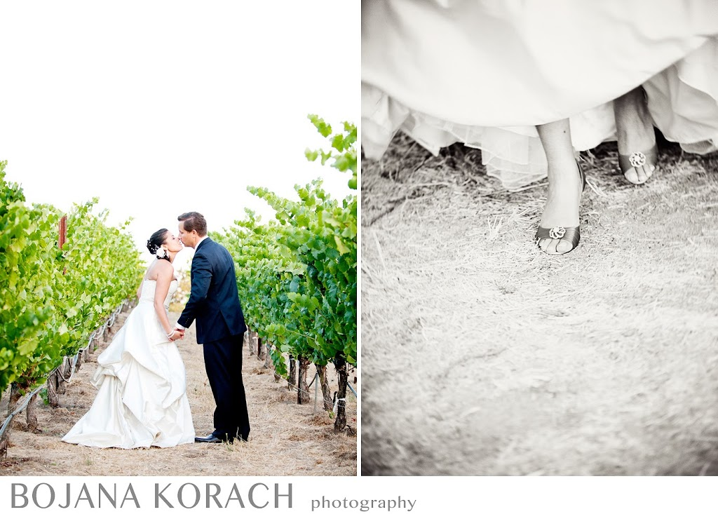 romantic fine art portraits of bride and groom in sonoma, nicholson ranch, wedding photographer