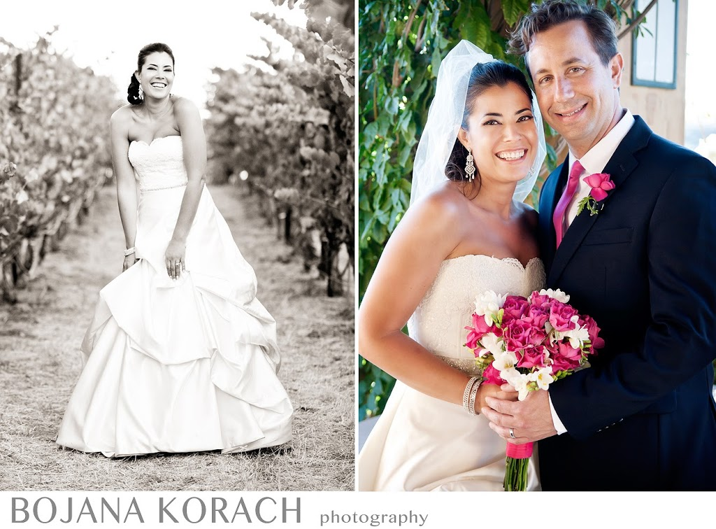 bride and groom fine art portraits at nicholson ranch winery in sonoma