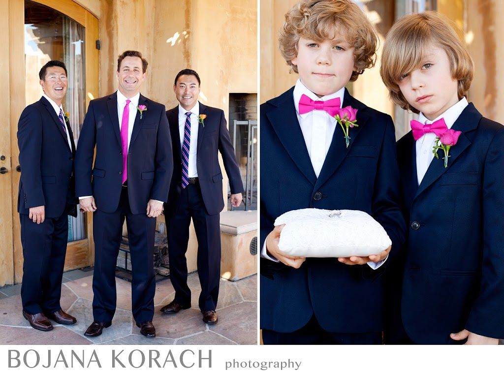 groomsmen with a groom and ring boys at the nicholson ranch winery wedding in sonoma, wedding photographer
