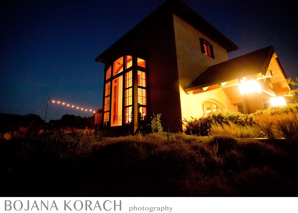 property photo of a nicholson ranch winery at night in sonoma, wedding photography