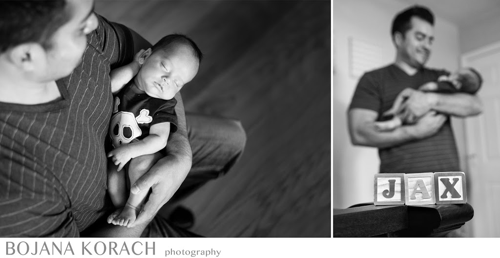 Newborn baby boy held by his father in Redwood City photographed by best San Francisco bay area photographer