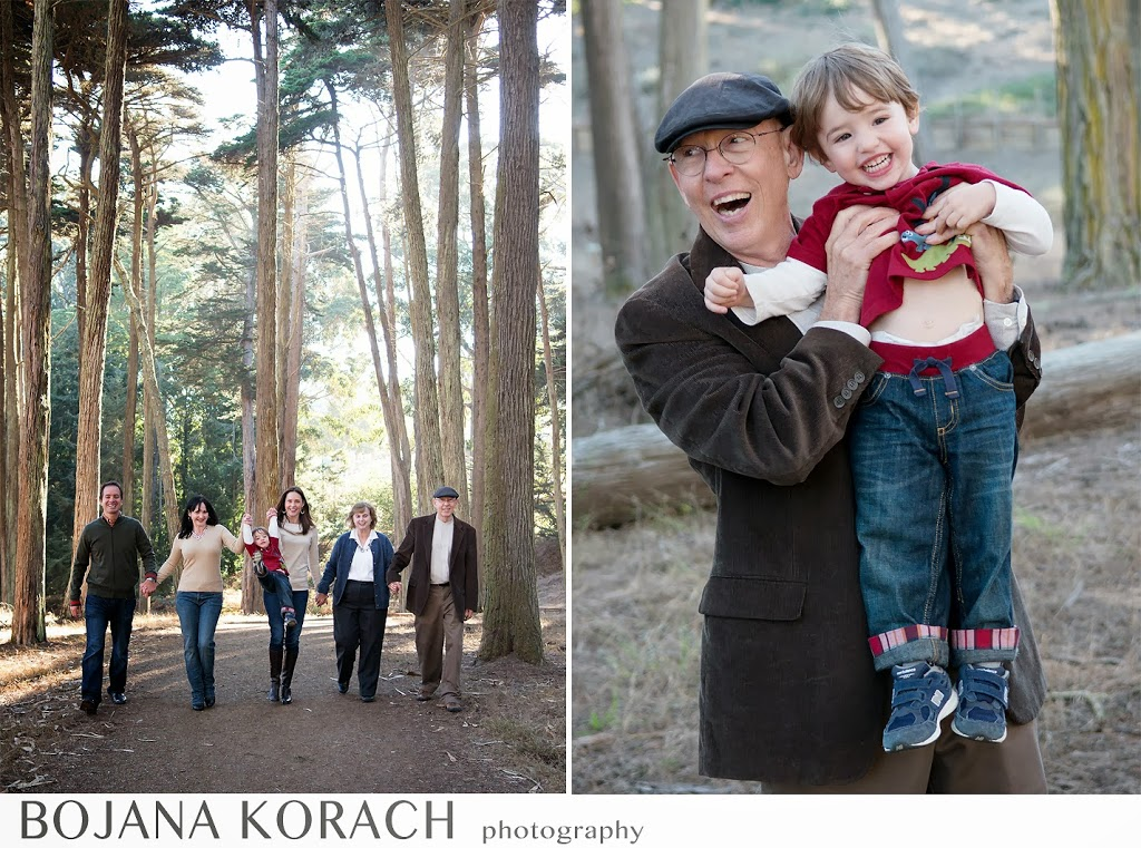 family photography in presidio in san francisco, grandfather and grandson