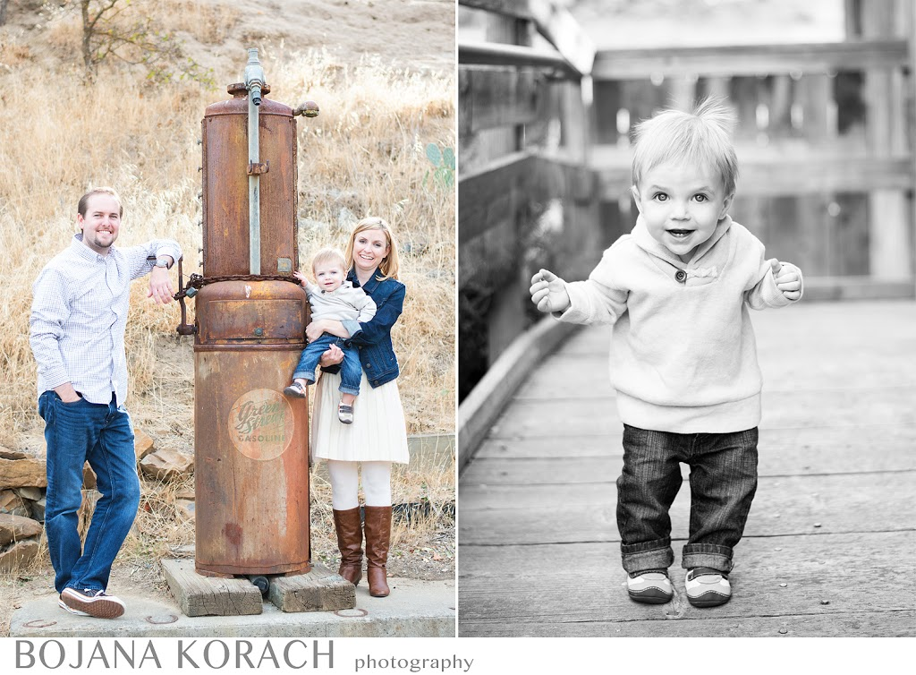 photograph of a family next to an old gas pump at the old borges ranch in walnut creek taken by the best photographer in walnut creek, orinda, moraga and danville area