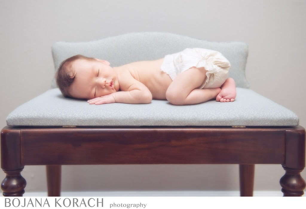 lafayette newborn baby photographer baby boy sleeping on a chair