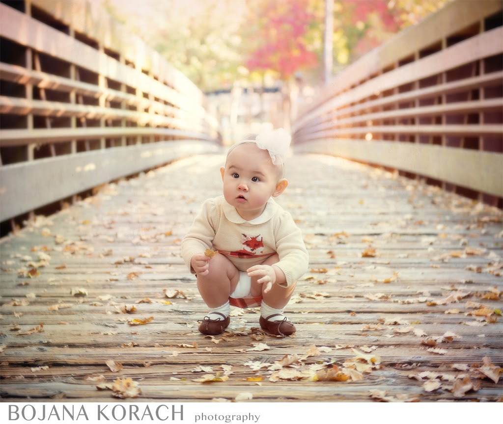 baby girl on a bridge at hap magee ranch in walnut creek, family photography