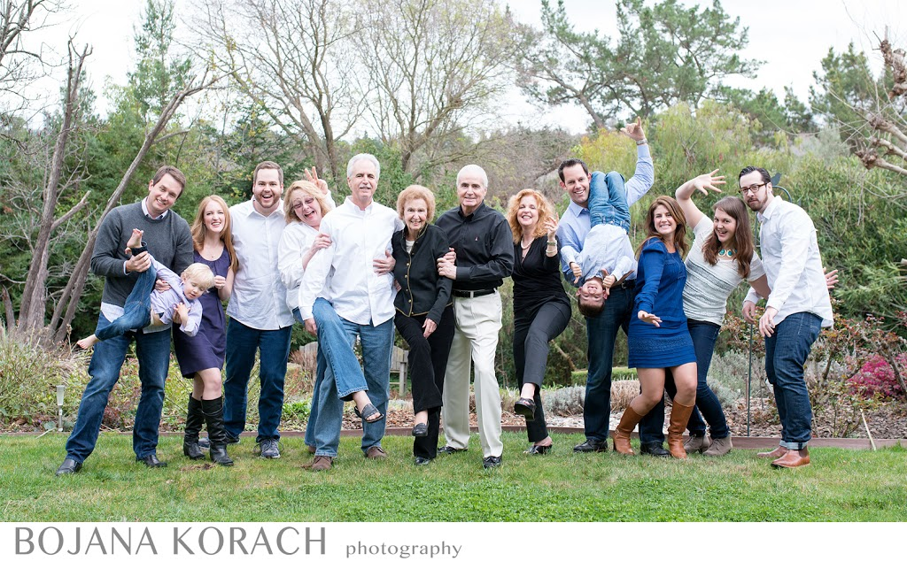 walnut creek family photographer captures a family of fourteen as they celebrate their grandmother's 90th birthday