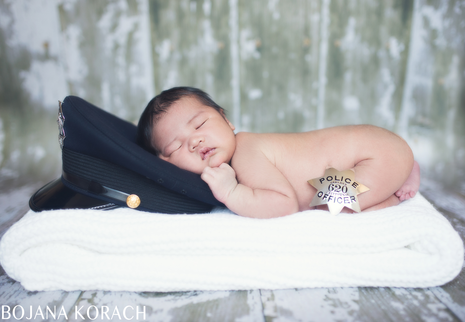 oakland-newborn-photography-police-hat-and-badge