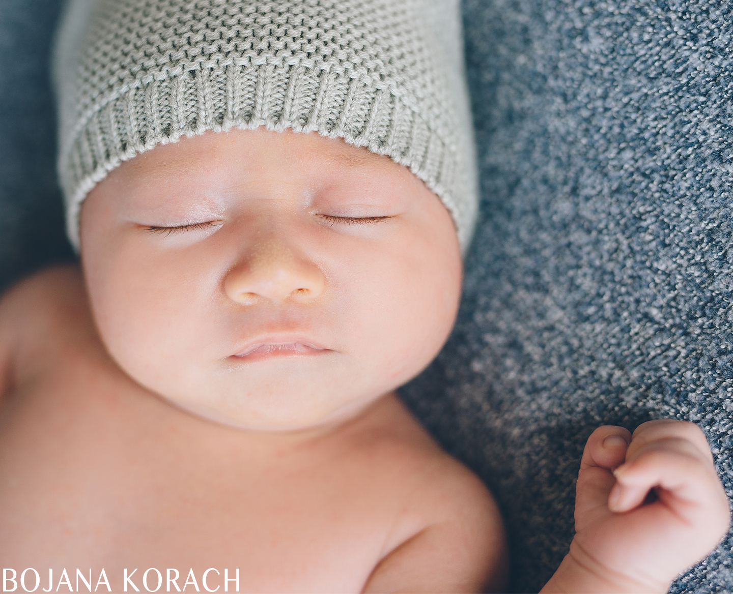 newborn baby boy with a hat