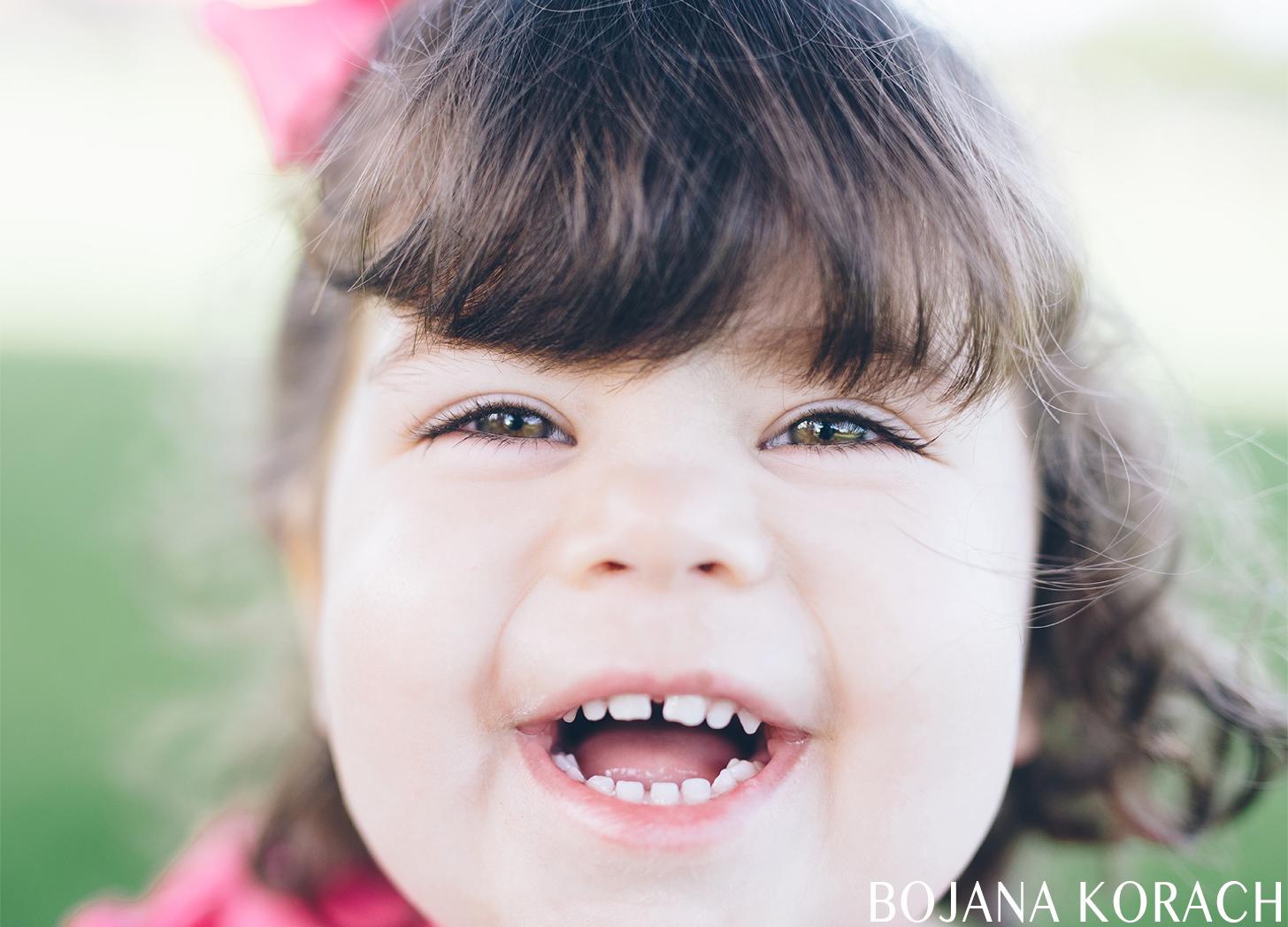 baby girl laughing