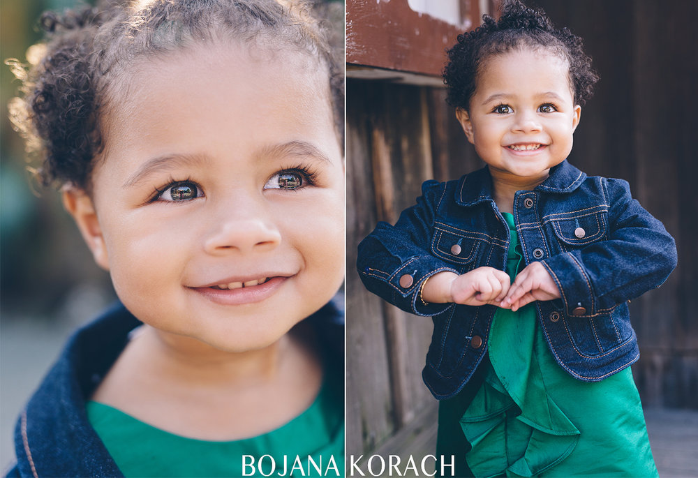 professional portraits of a beautiful two year old girl