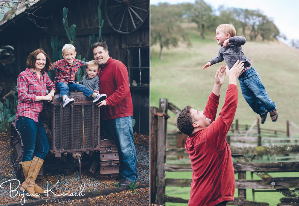 chicago family holiday photos at a ranch