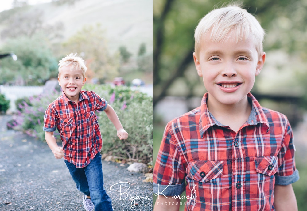 boy running fast during a ranch photo session