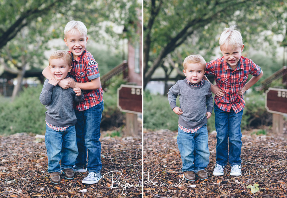 two brothers at a family photos ranch session