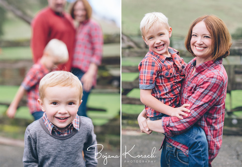 family photo session at a ranch