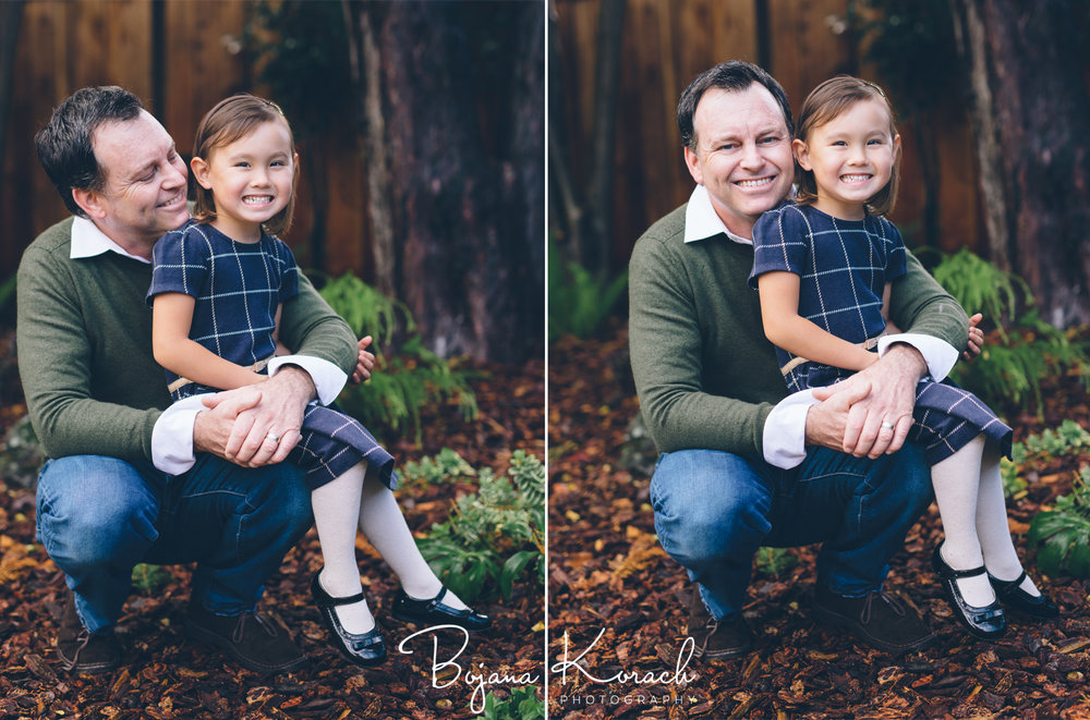 father and daughter portraits
