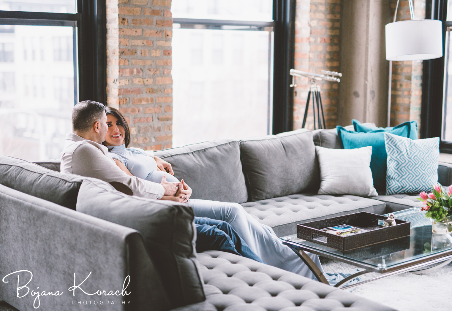 chicago pregnancy photographs at home