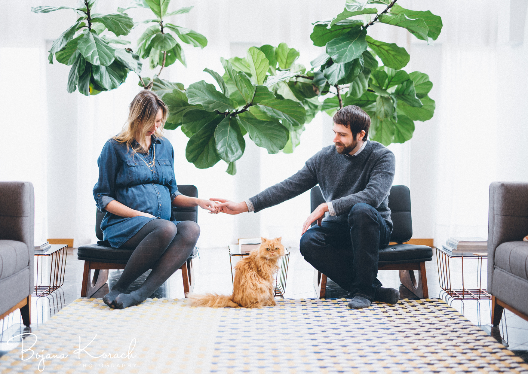 wes anderson inspired maternity photography session