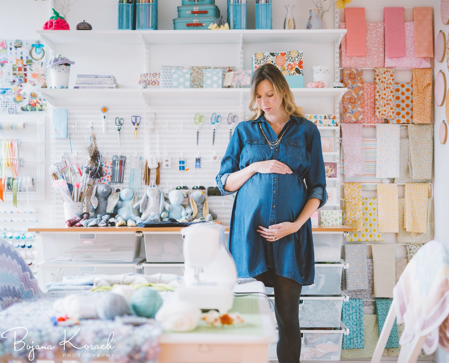amazing craft room maternity session