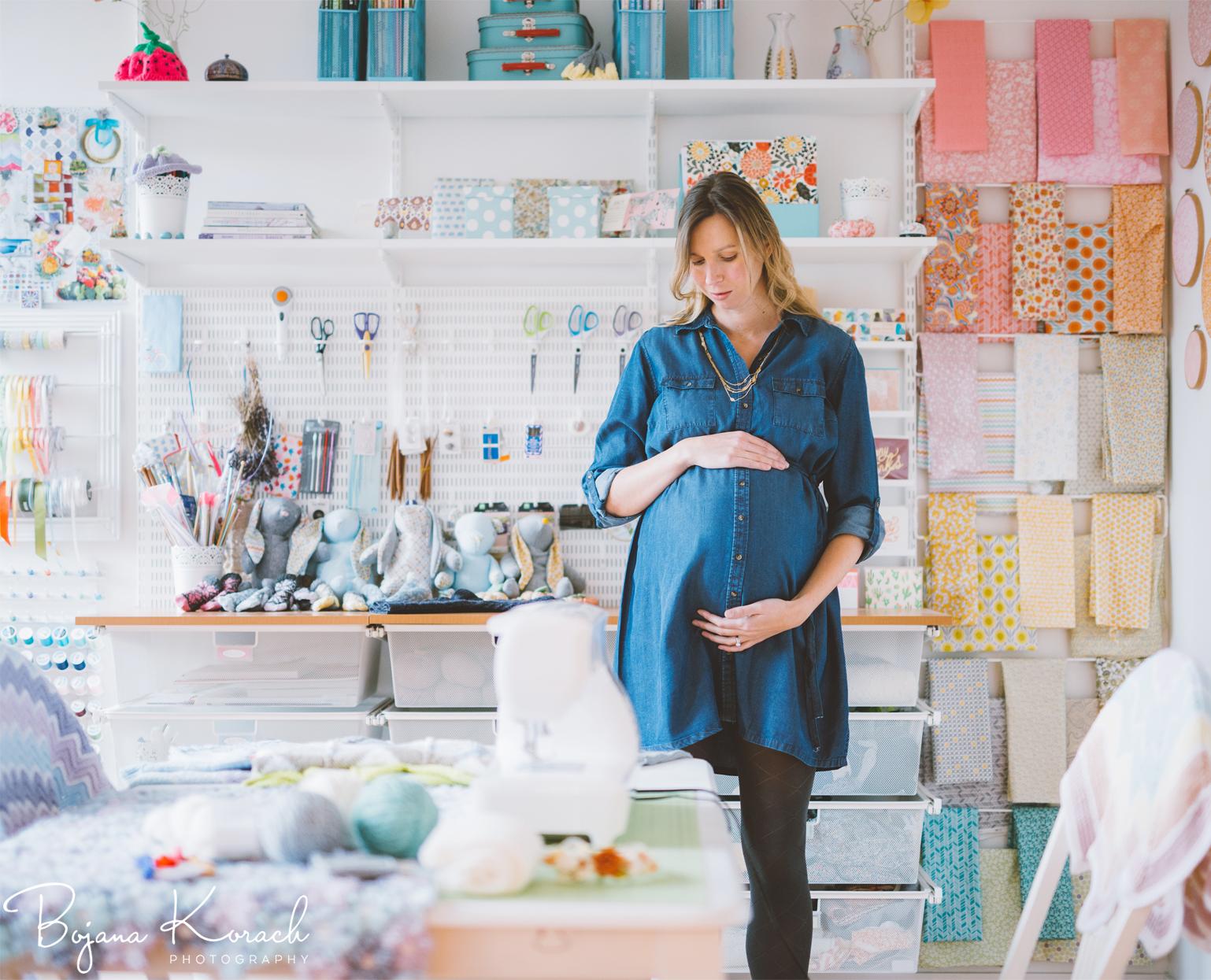 amazing craft room maternity session