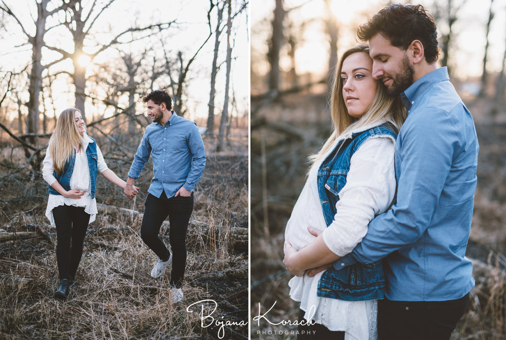 woods maternity photos