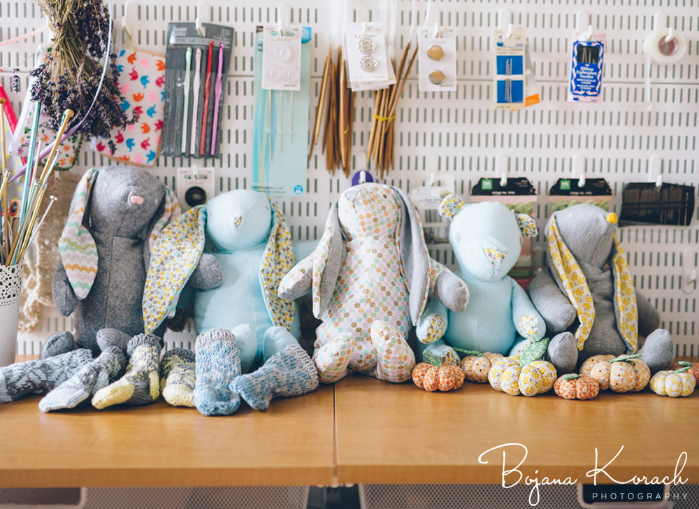 handmade stuffed animals