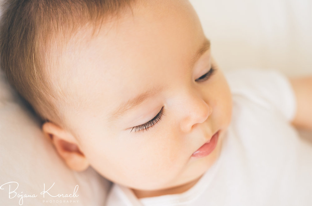 close up portrait of a baby boy