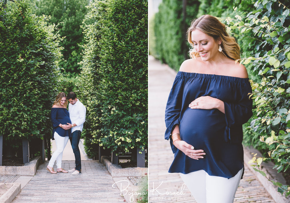 maternity photography in a city garden