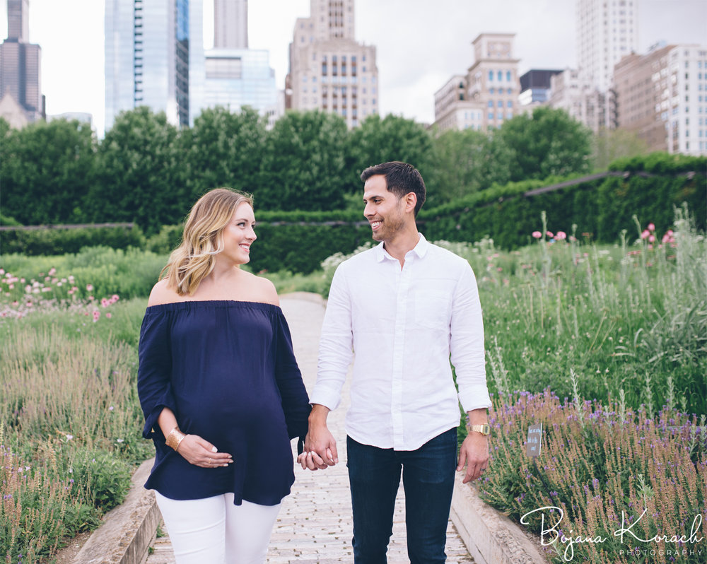 lurie garden maternity session