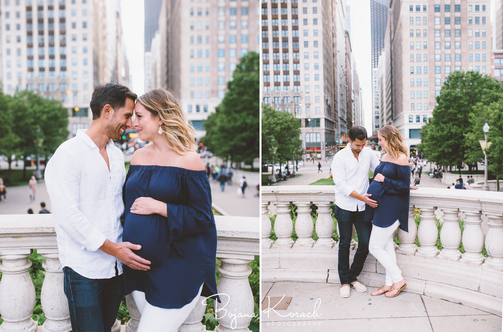 chicago downtown maternity photography