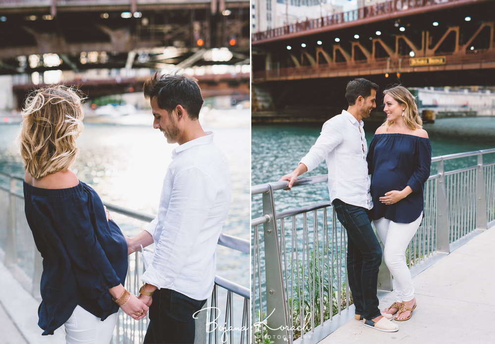 chicago riverwalk maternity session