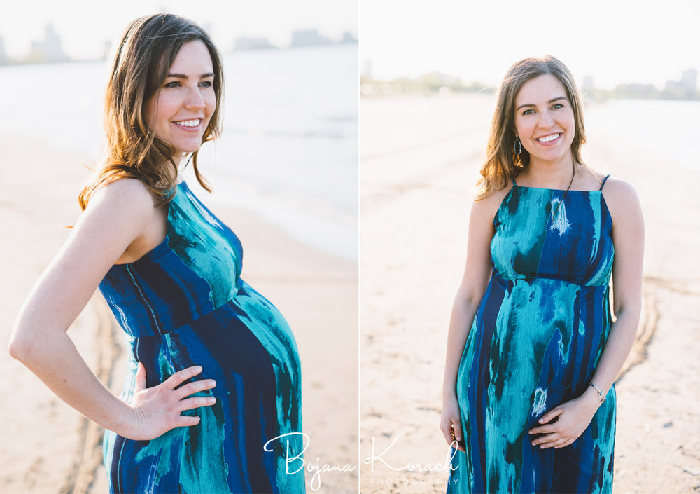san francisco beach maternity session
