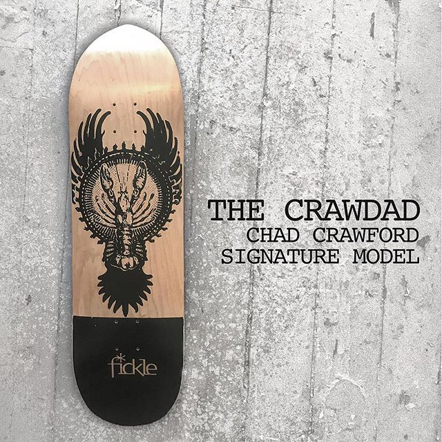 Out now! The Chad Crawford signature model. Available at fickleskateboards.com