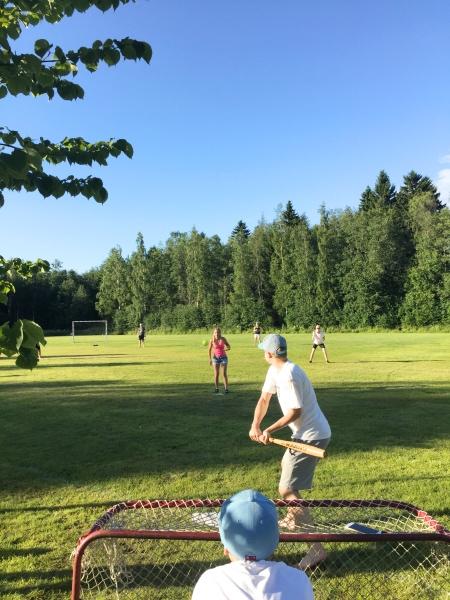 Baseballspel vid Rödsö Park.