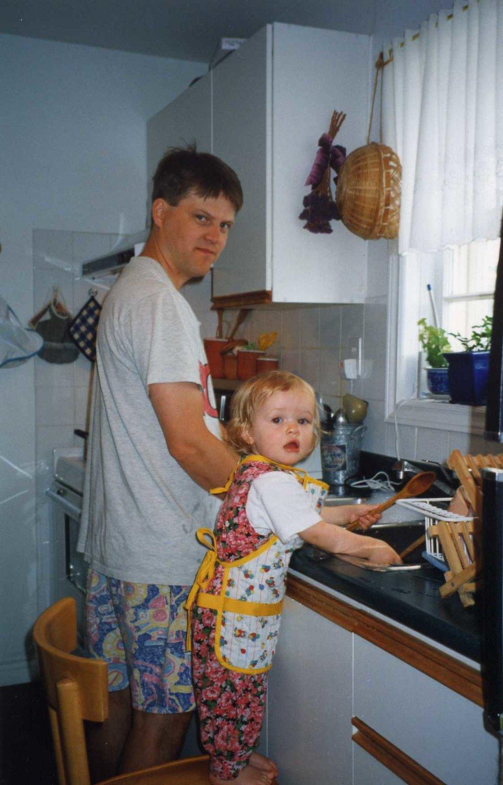 Min pappa och jag i Kanada 1995.