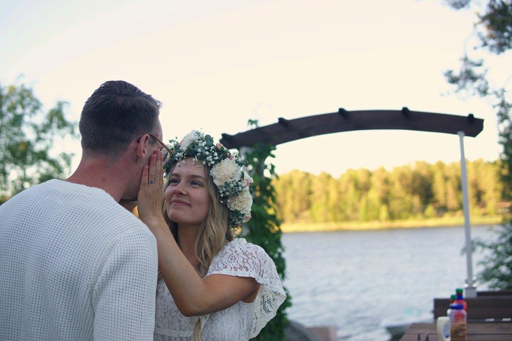 Från sommaren 2018, examensfest. Foto: Ebba Åström